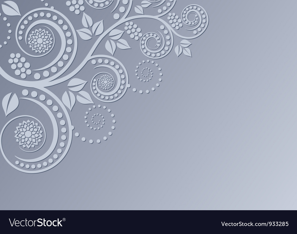 Background with floral decoration vector | Price: 1 Credit (USD $1)