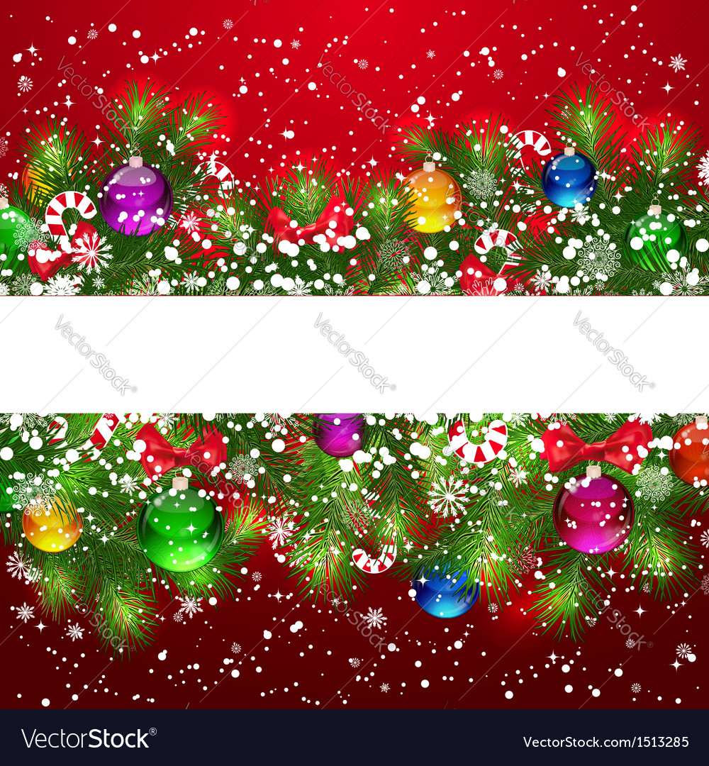 Christmas pine border vector | Price: 5 Credit (USD $5)