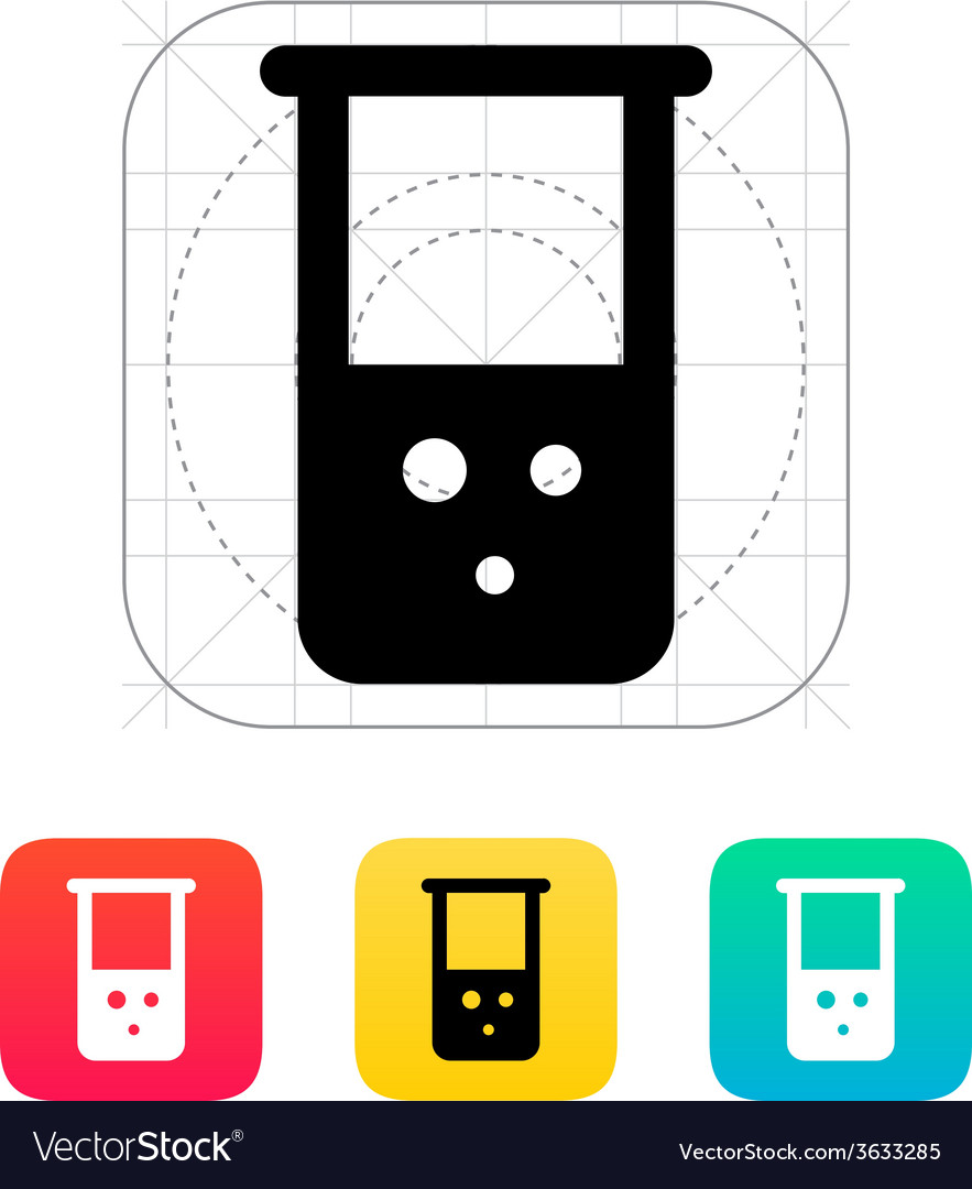 Flask with chemical reagent icon vector | Price: 1 Credit (USD $1)