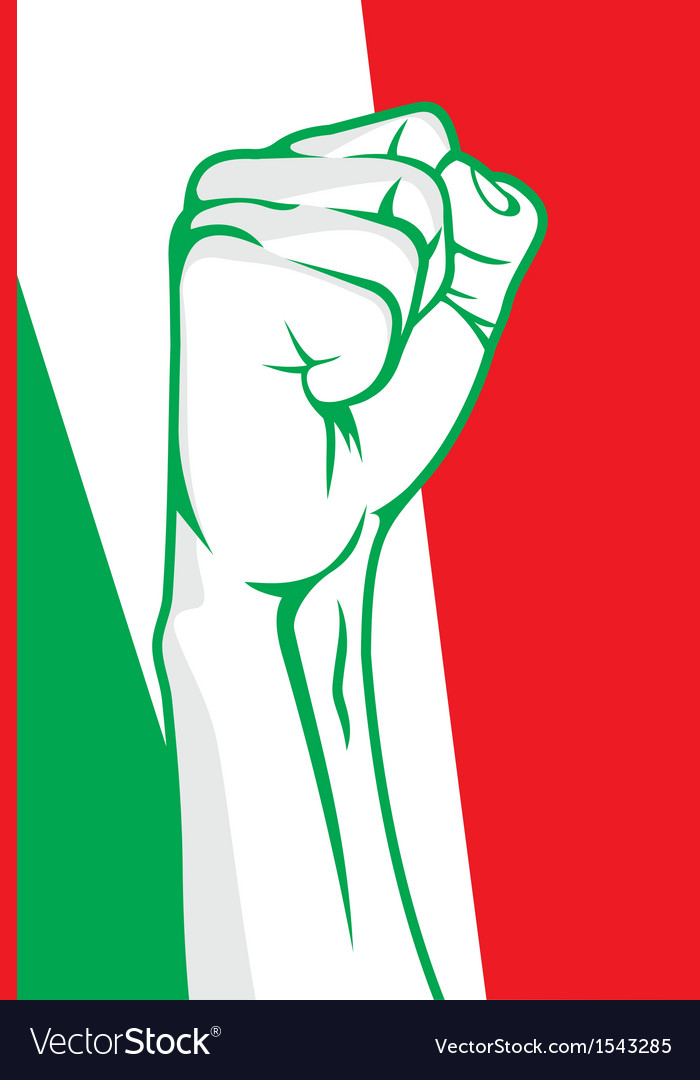 Italy fist vector | Price: 1 Credit (USD $1)