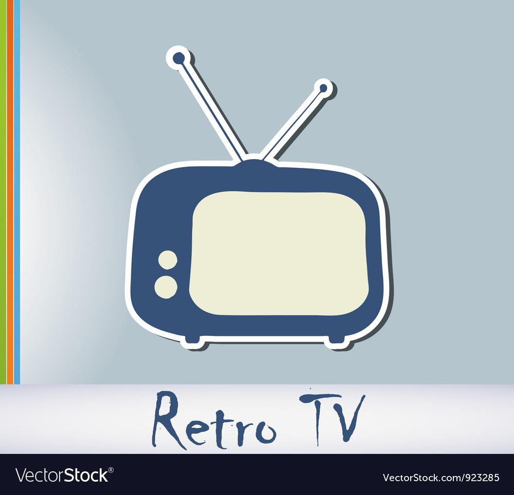 Retro tv background vector   Price: 1 Credit (USD $1)