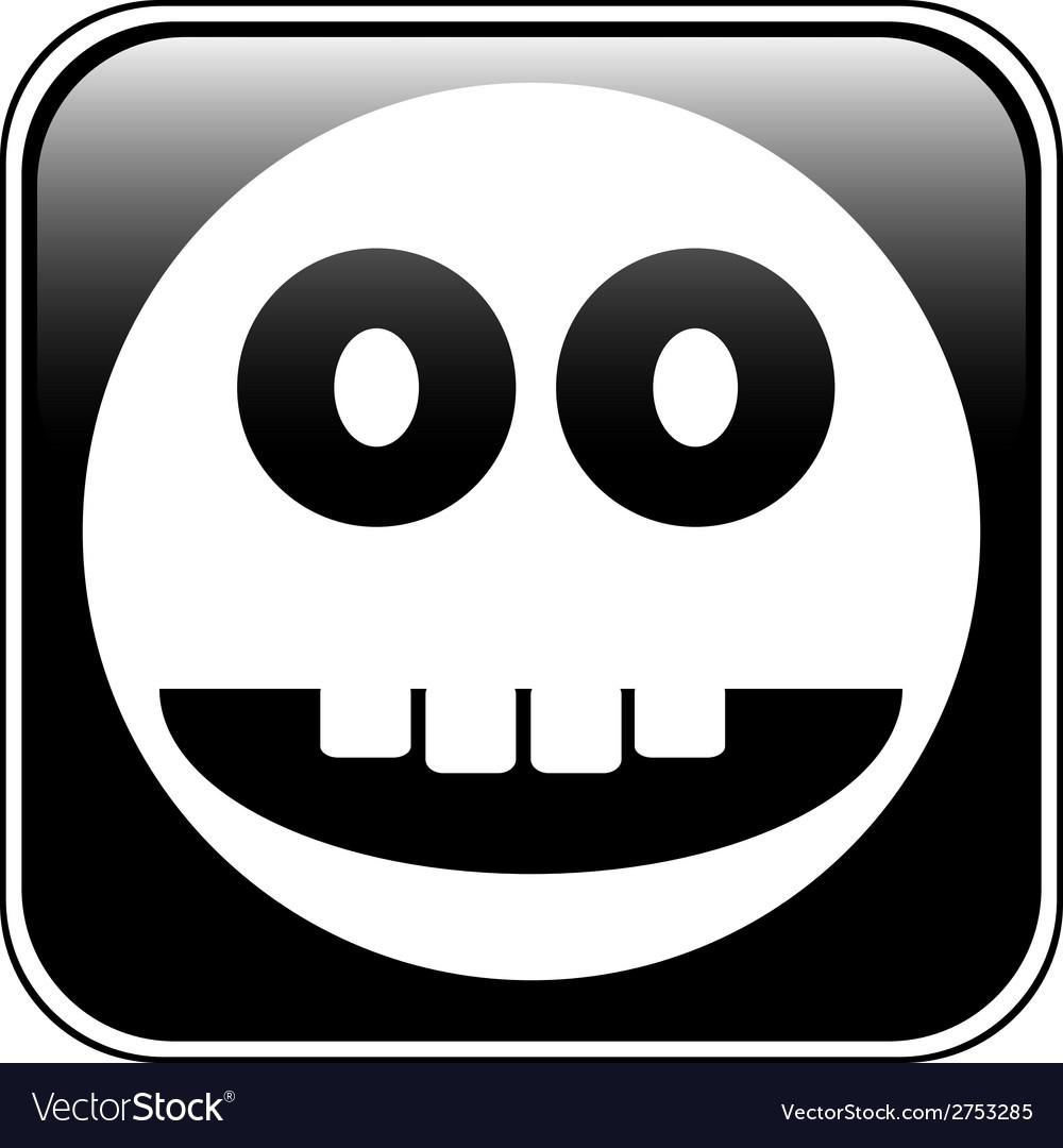 Smile face circle button vector   Price: 1 Credit (USD $1)