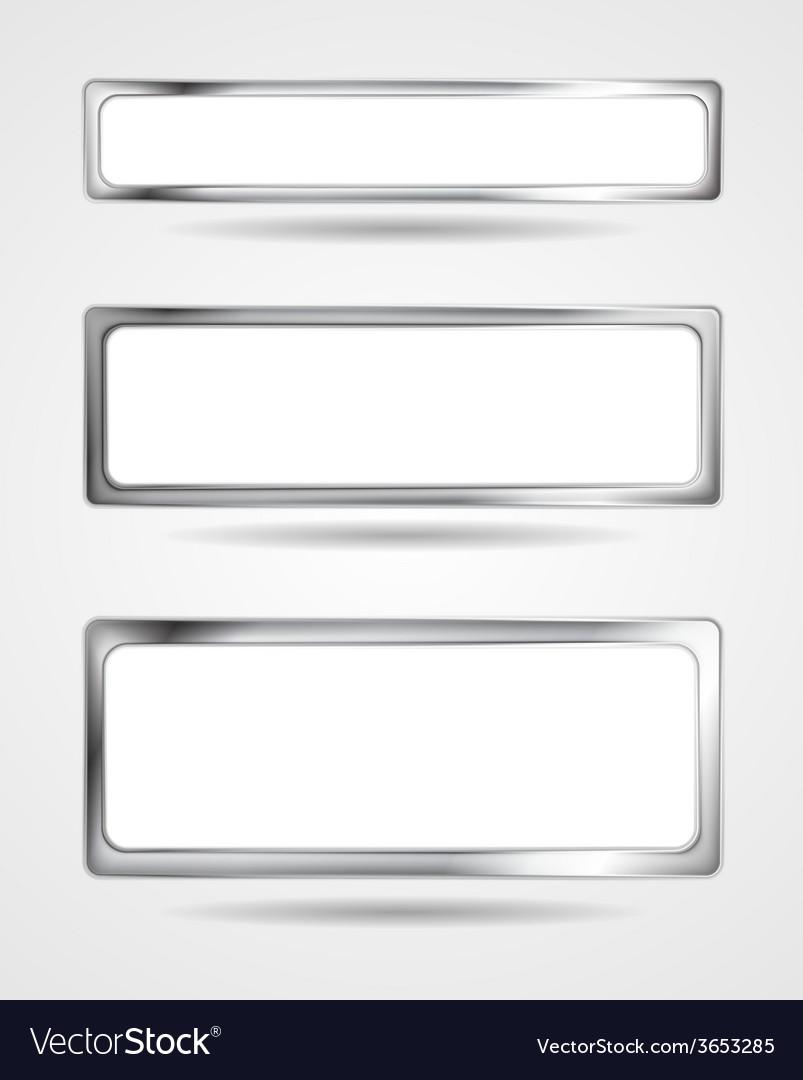 Steel metal banner frame border vector | Price: 1 Credit (USD $1)