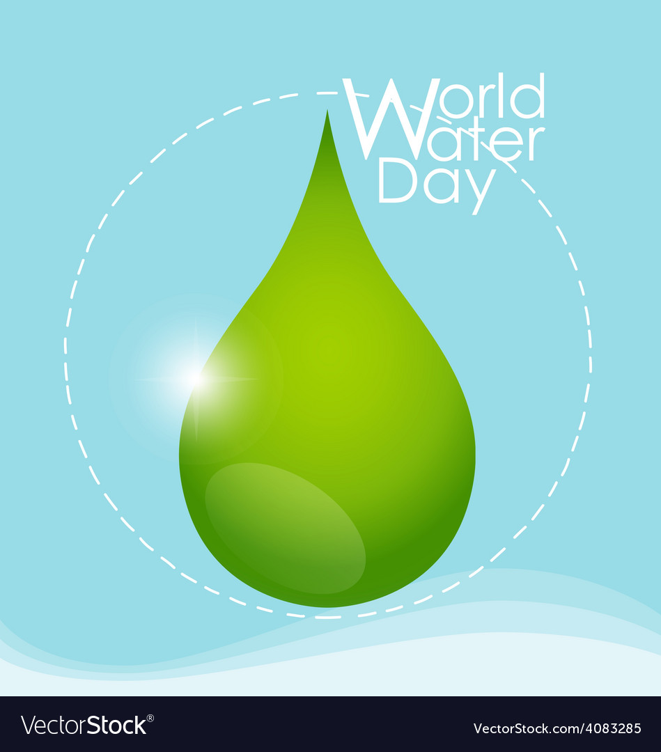 World water day concept with water drop vector | Price: 1 Credit (USD $1)