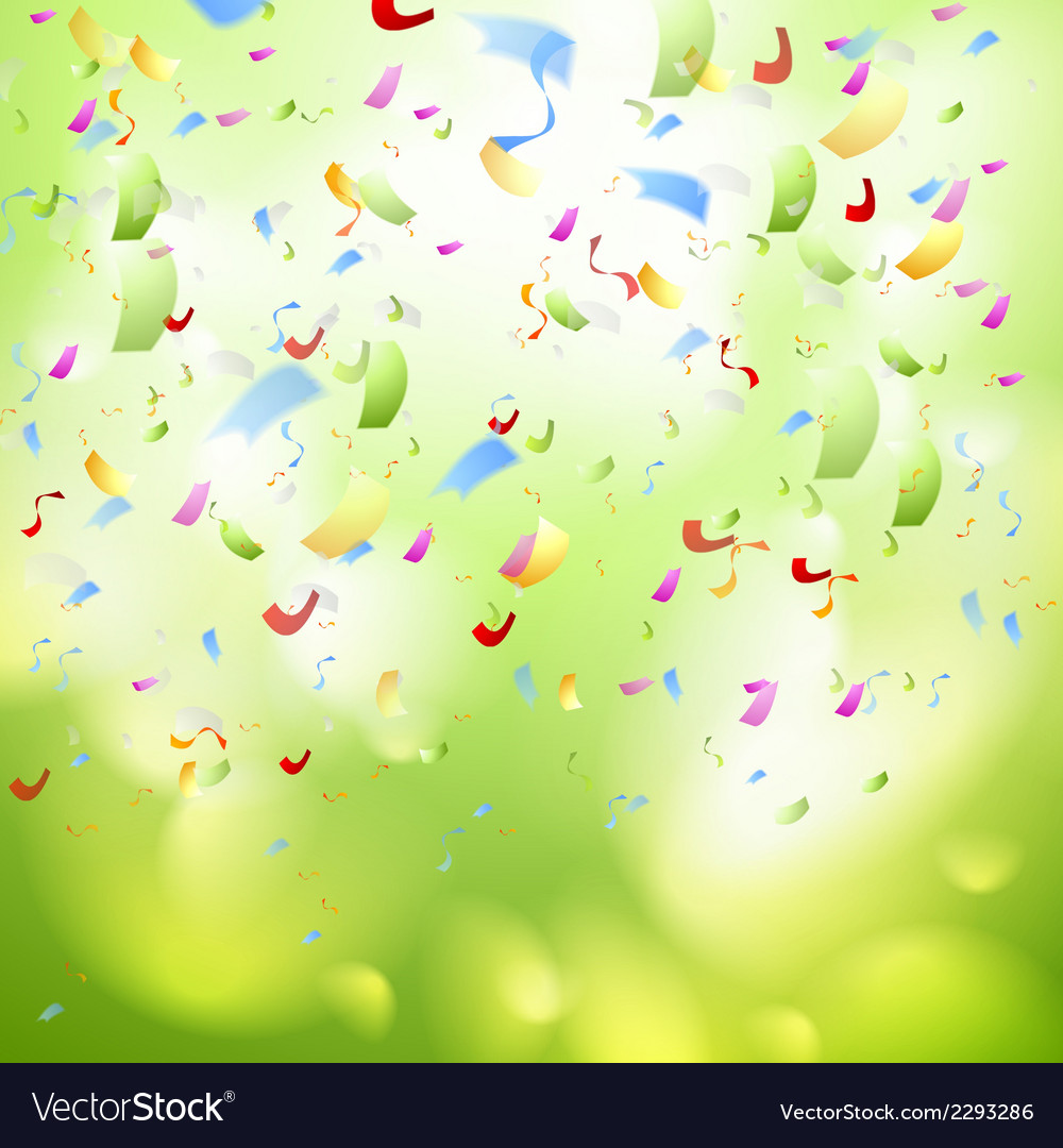 Bright shiny confetti abstract design template vector | Price: 1 Credit (USD $1)