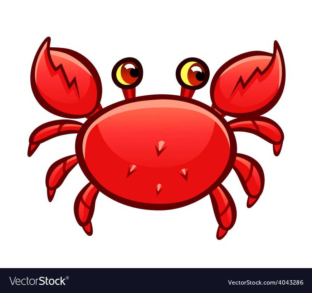 Cartoon red crab vector | Price: 3 Credit (USD $3)