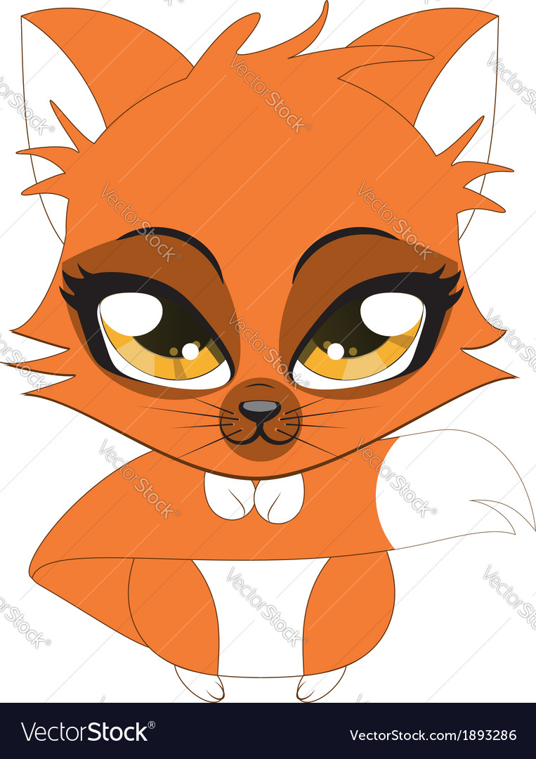 Cute little fox vector | Price: 1 Credit (USD $1)