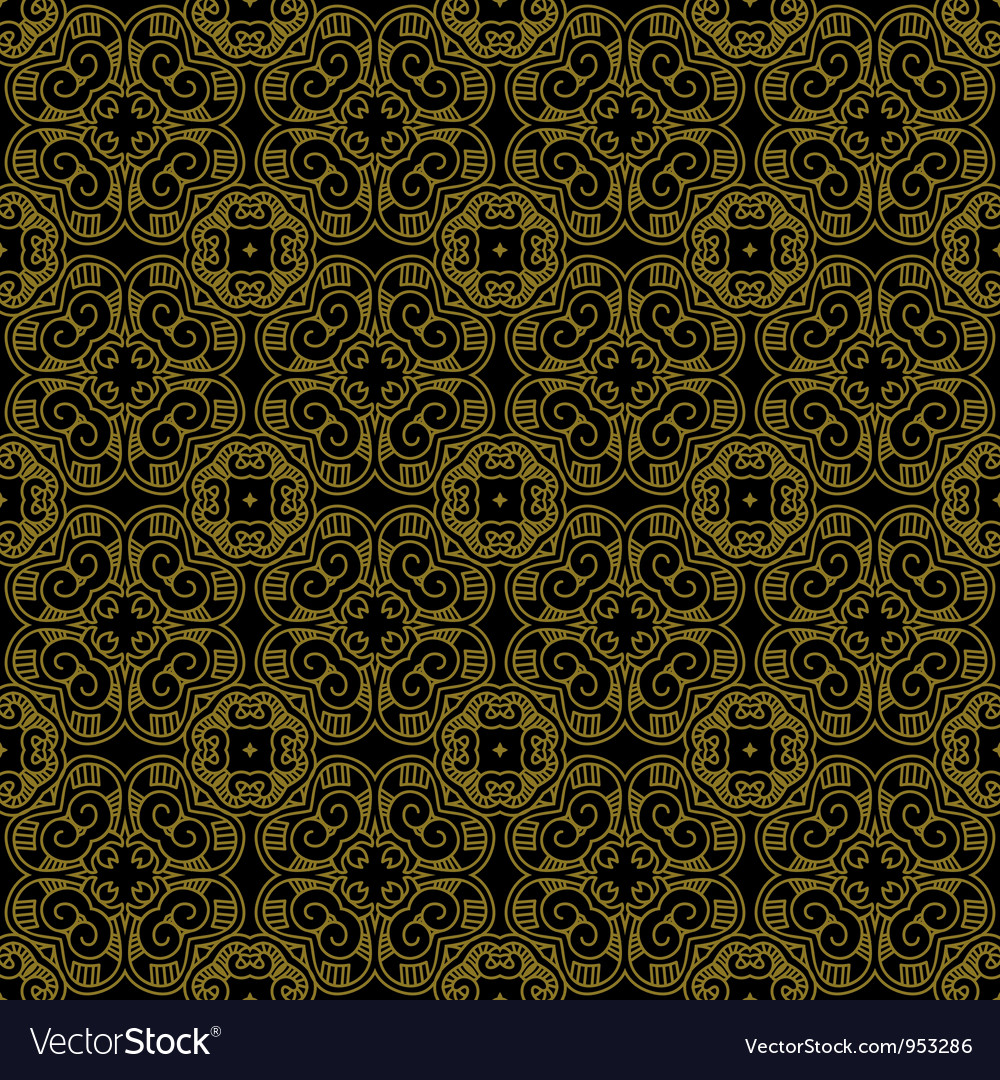 Decorative retro pattern vector | Price: 1 Credit (USD $1)