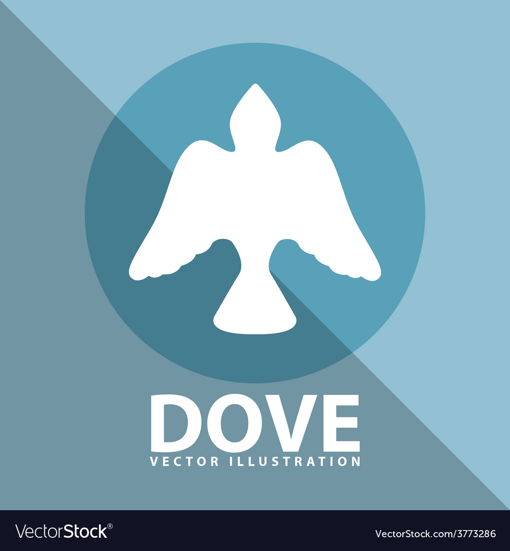 Dove icon design vector | Price: 1 Credit (USD $1)