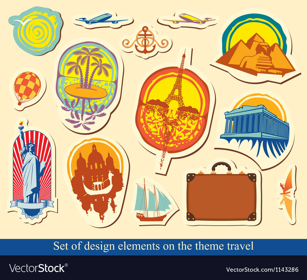 Elements design travel vector | Price: 3 Credit (USD $3)
