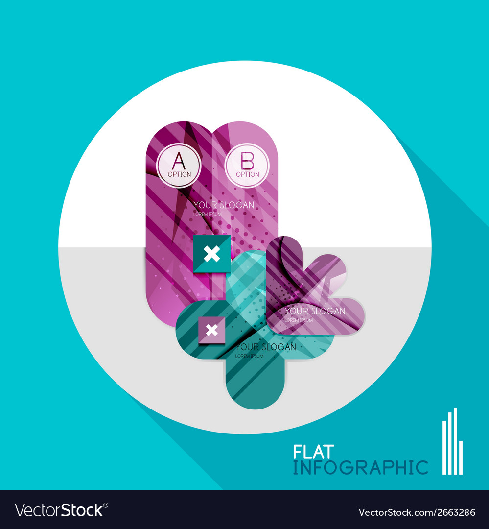Geometric infographic in trendy flat style vector   Price: 1 Credit (USD $1)