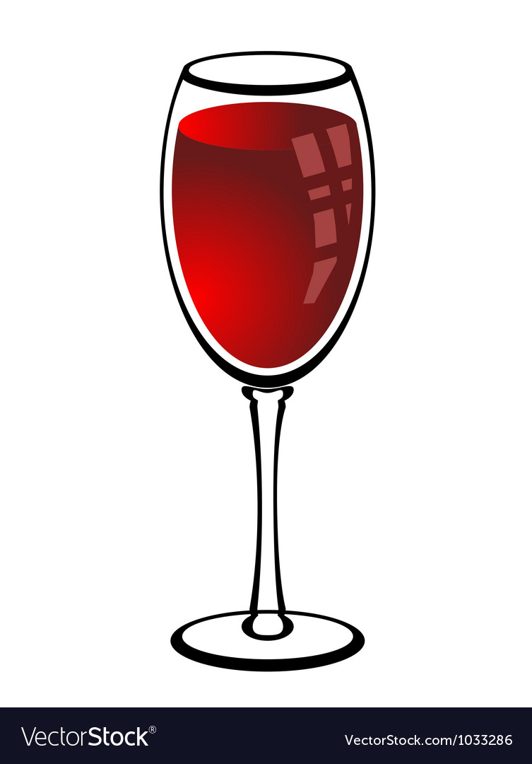 Glass of red wine vector | Price: 1 Credit (USD $1)