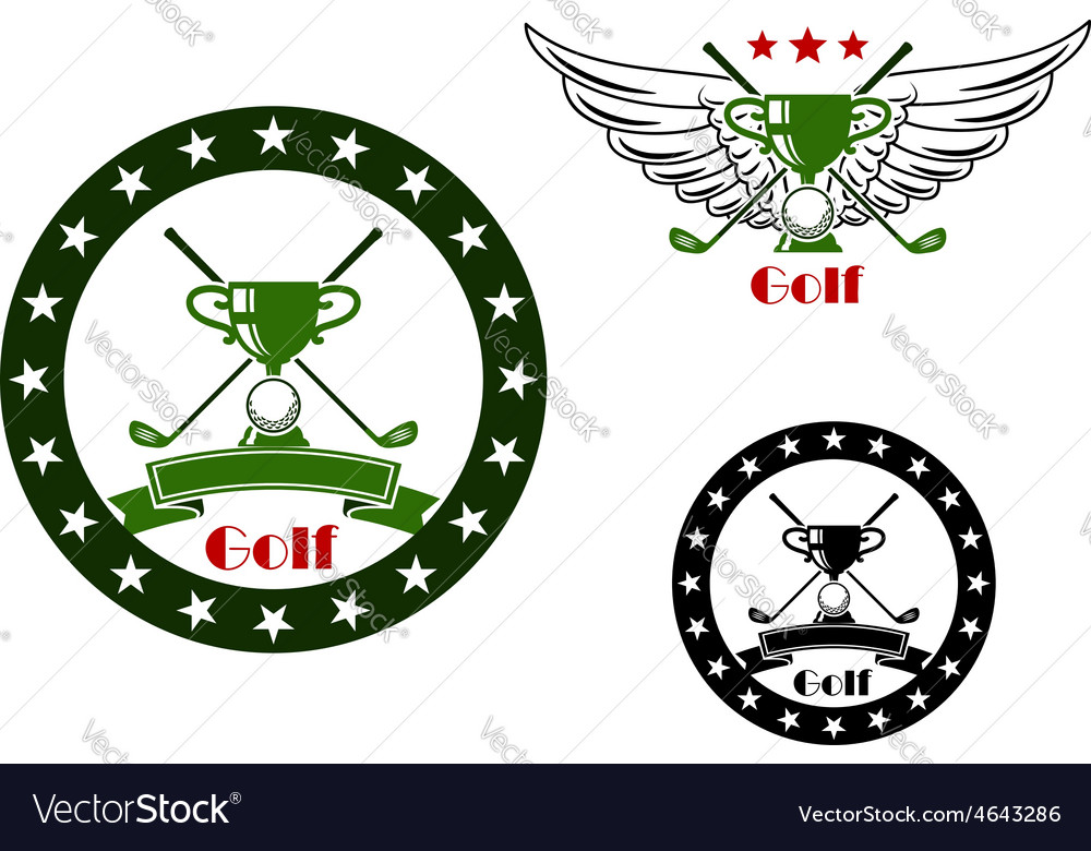 Golf tournament emblems and symbols vector | Price: 1 Credit (USD $1)
