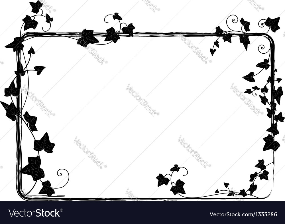 Ivy frame vector | Price: 1 Credit (USD $1)