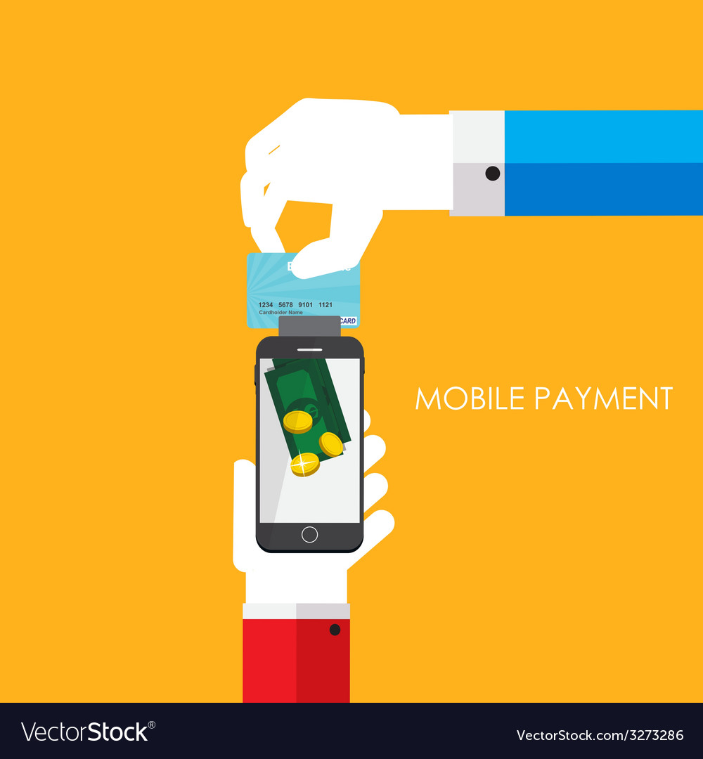 Mobile payment flat concept vector | Price: 1 Credit (USD $1)