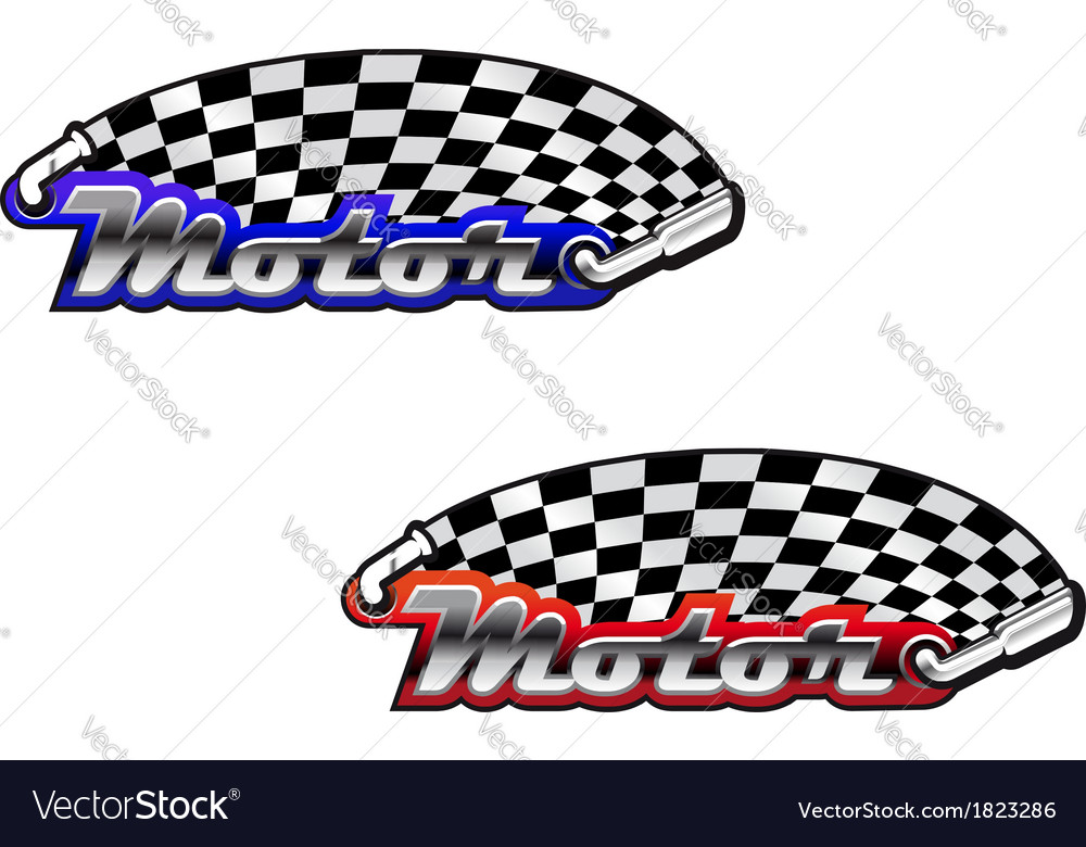 Motor racing icons in two colour options vector | Price: 1 Credit (USD $1)