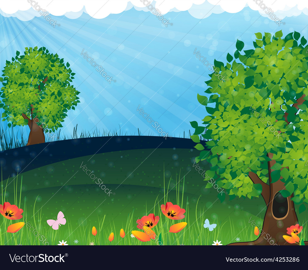 Nature landscape vector | Price: 3 Credit (USD $3)
