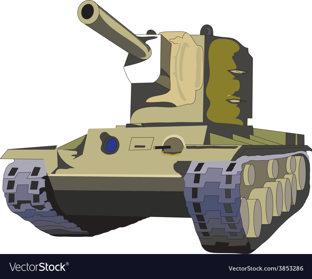 Russian tank kv2 vector | Price: 1 Credit (USD $1)