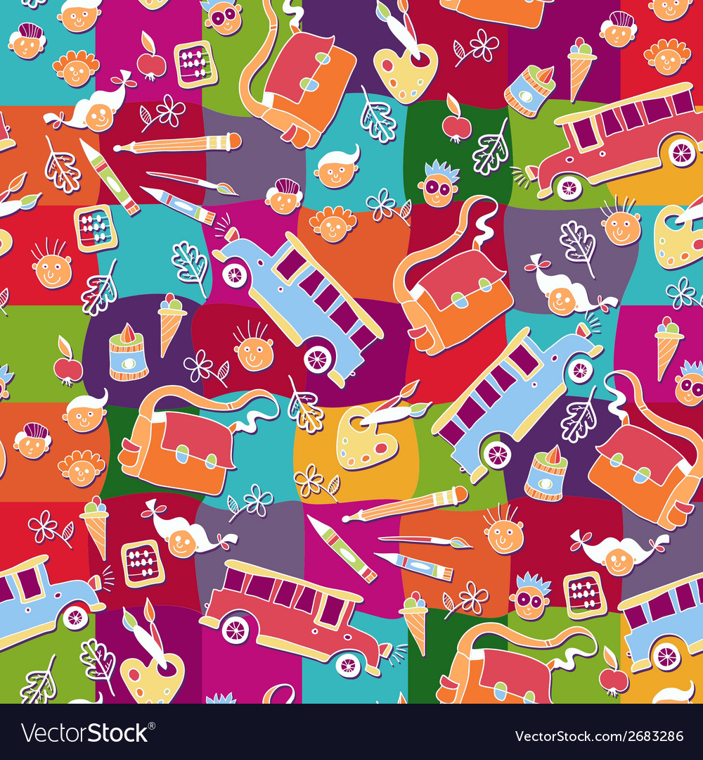 School pattern background vector | Price: 1 Credit (USD $1)