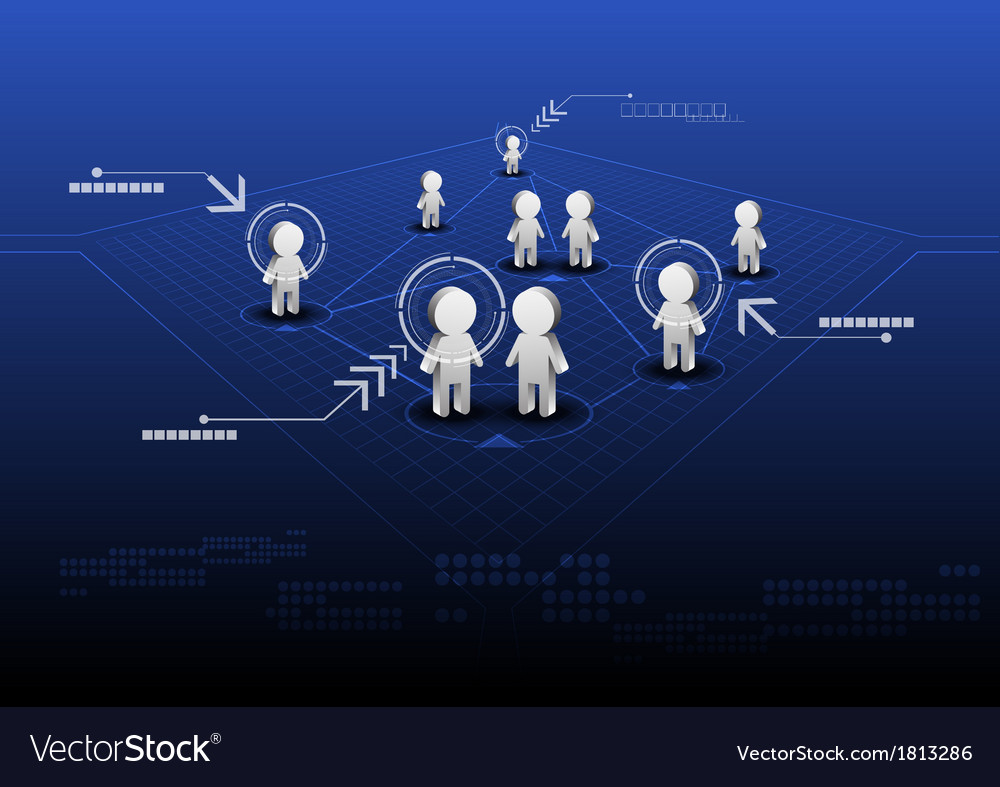 Social network online with indicator vector | Price: 1 Credit (USD $1)