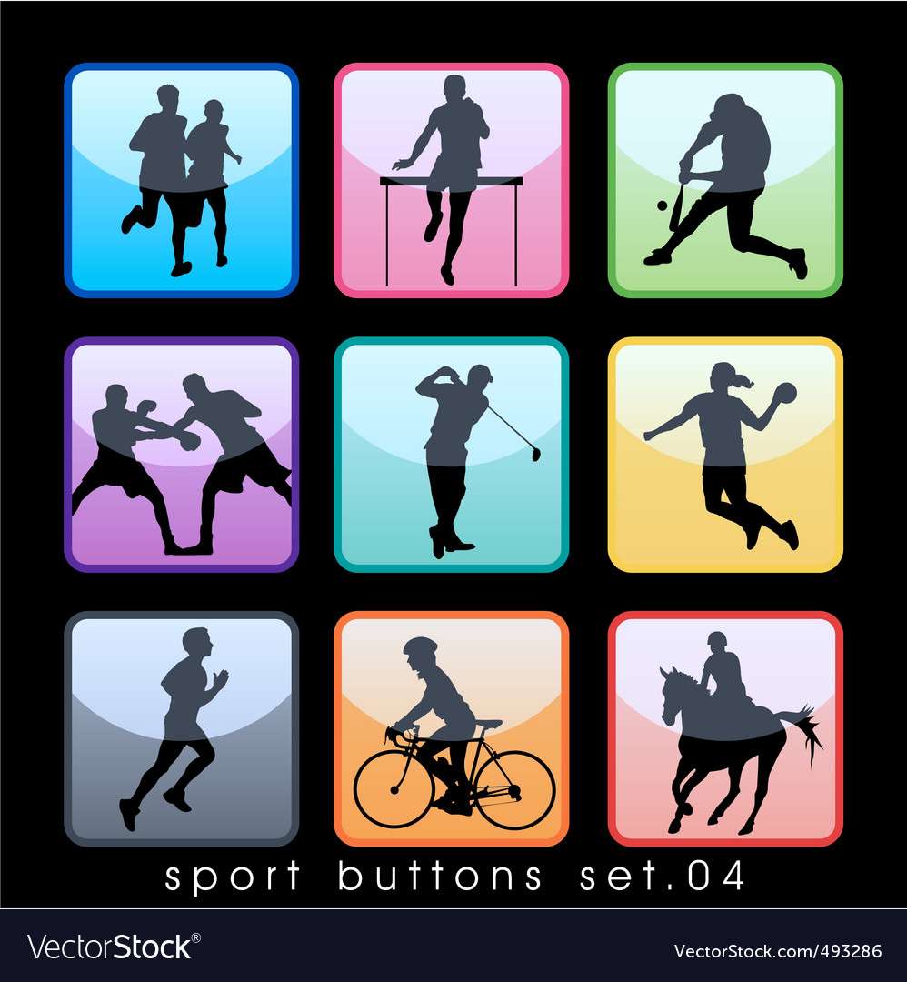 Sport buttons 04 vector | Price: 1 Credit (USD $1)