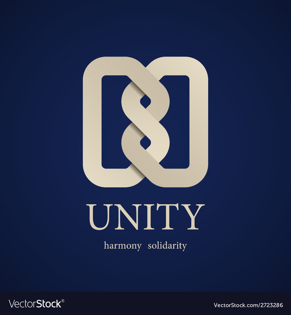 Unity knot symbol design template vector | Price: 1 Credit (USD $1)