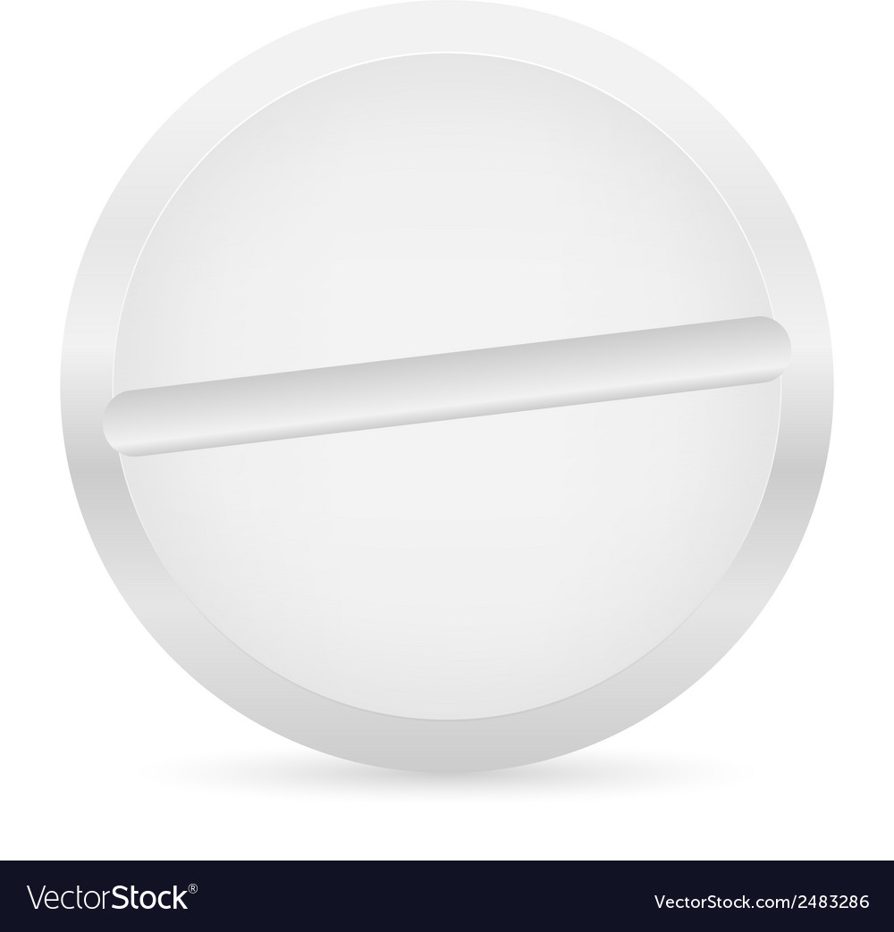 White pill vector | Price: 1 Credit (USD $1)