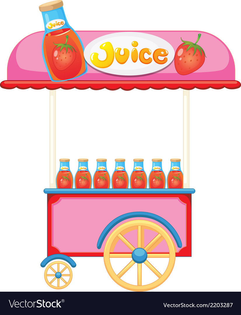 A strawberry juice cart vector | Price: 1 Credit (USD $1)