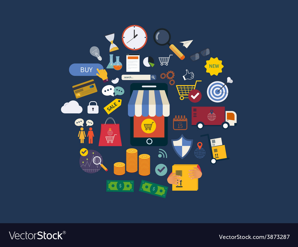 Full circle of market research advertisement vector   Price: 1 Credit (USD $1)