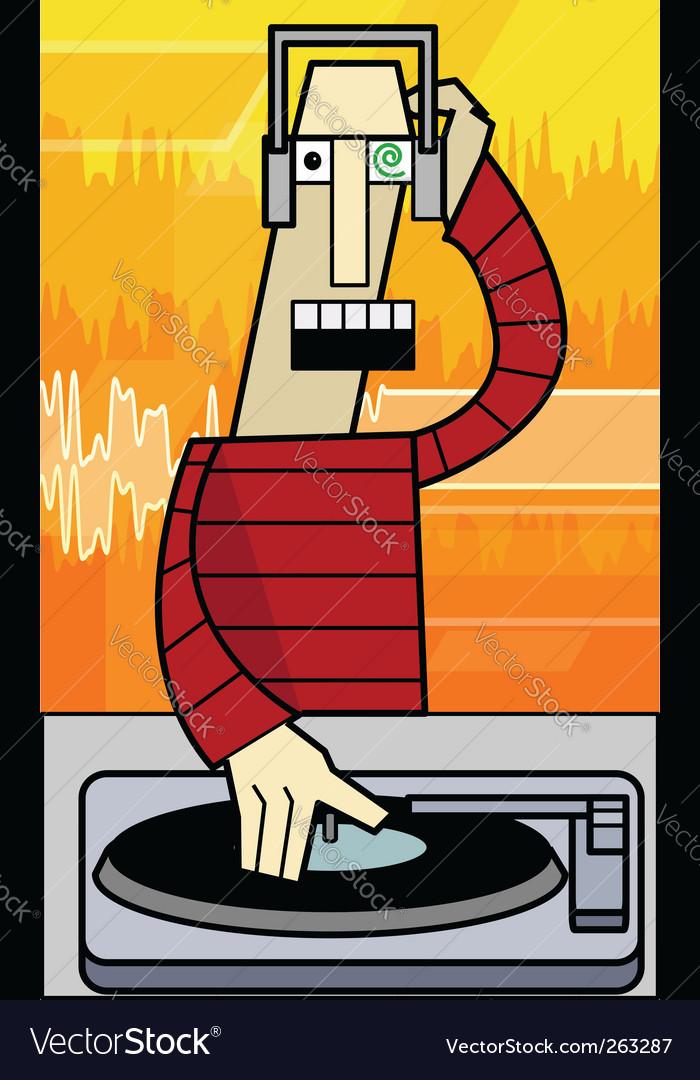 Funky dj illustration vector   Price: 1 Credit (USD $1)