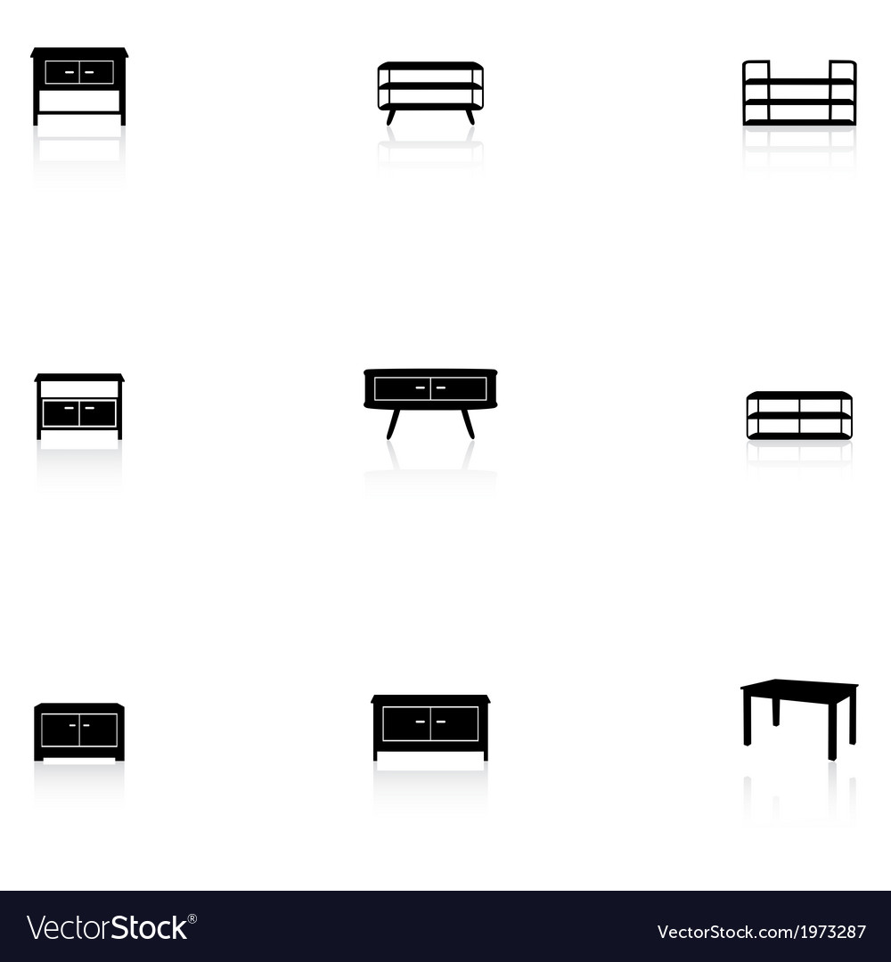 Furniture icons - table vector   Price: 1 Credit (USD $1)
