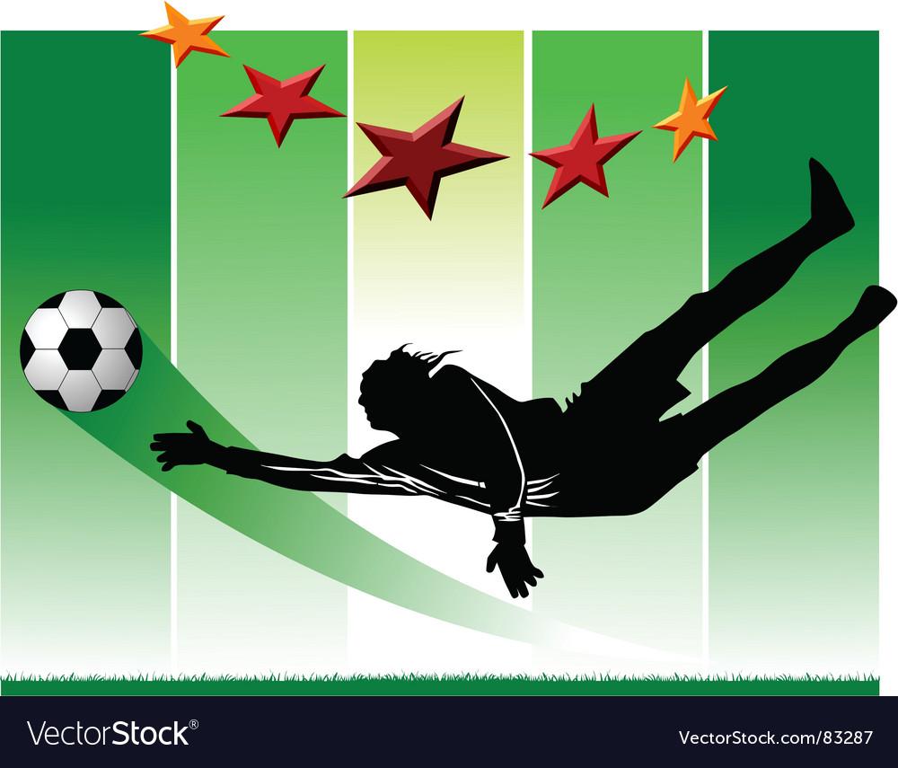 Goalkeeper vector | Price: 1 Credit (USD $1)