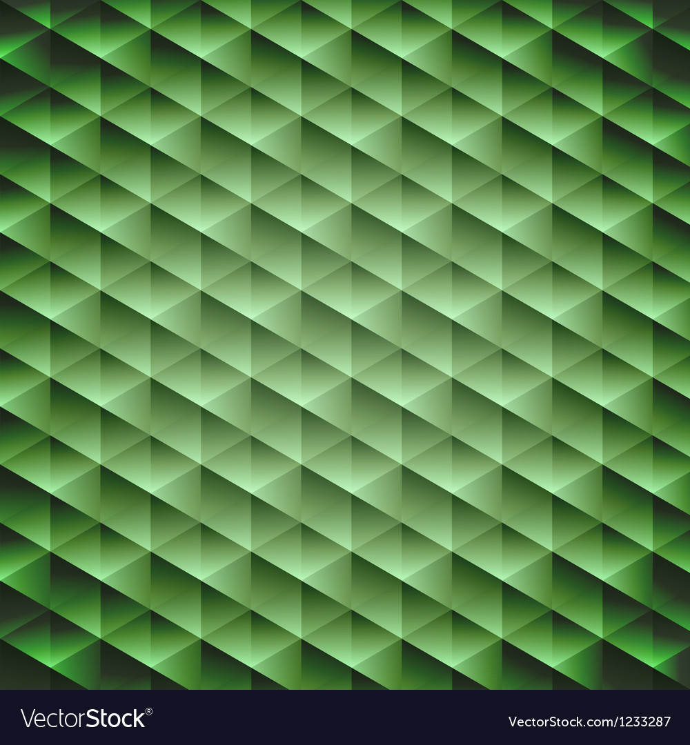 Green emerald geometric cubic background vector | Price: 1 Credit (USD $1)
