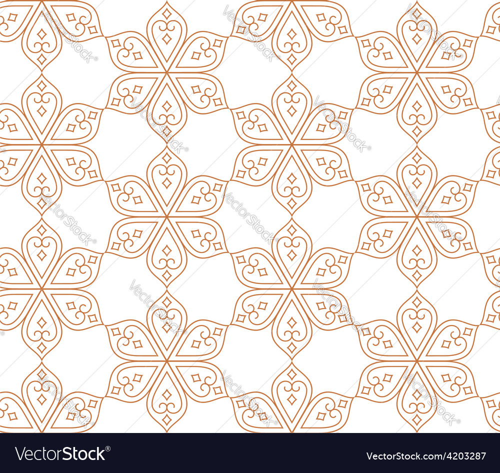 Indian seamless abstract pattern of traditional vector | Price: 1 Credit (USD $1)