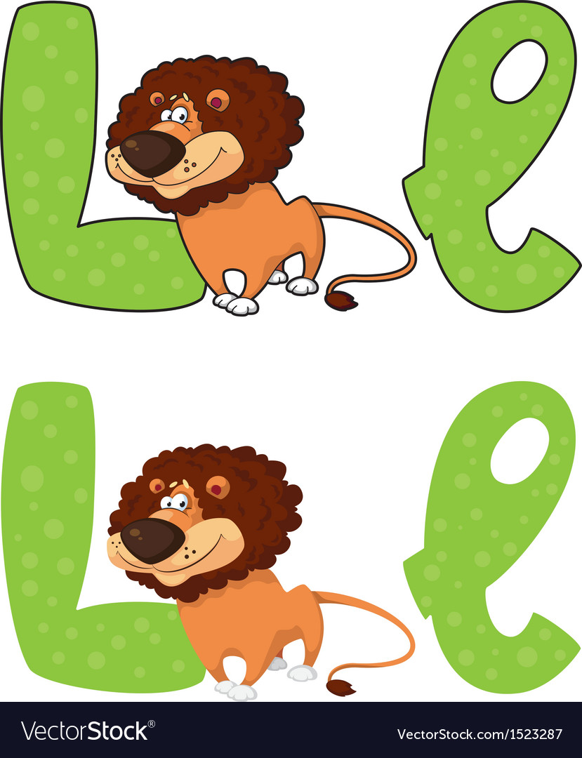Letter l lion vector | Price: 1 Credit (USD $1)