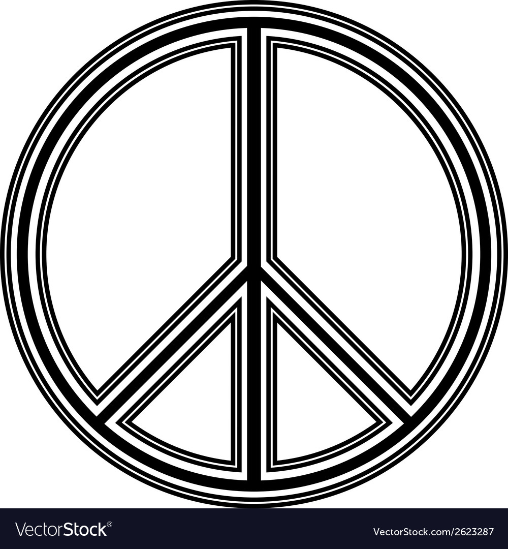 Peace symbol vector   Price: 1 Credit (USD $1)