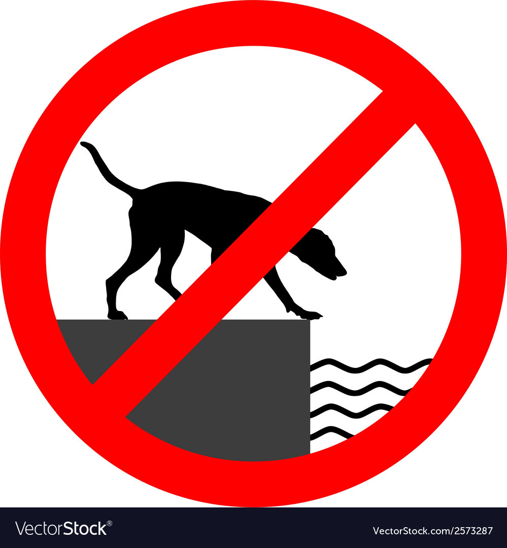 Prohibition sign for dogs vector | Price: 1 Credit (USD $1)