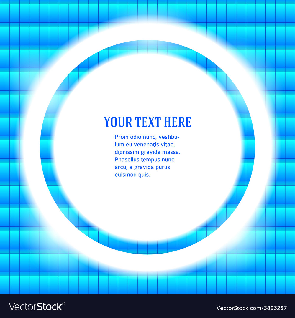 Round frame your message bright blue mosaic vector | Price: 1 Credit (USD $1)