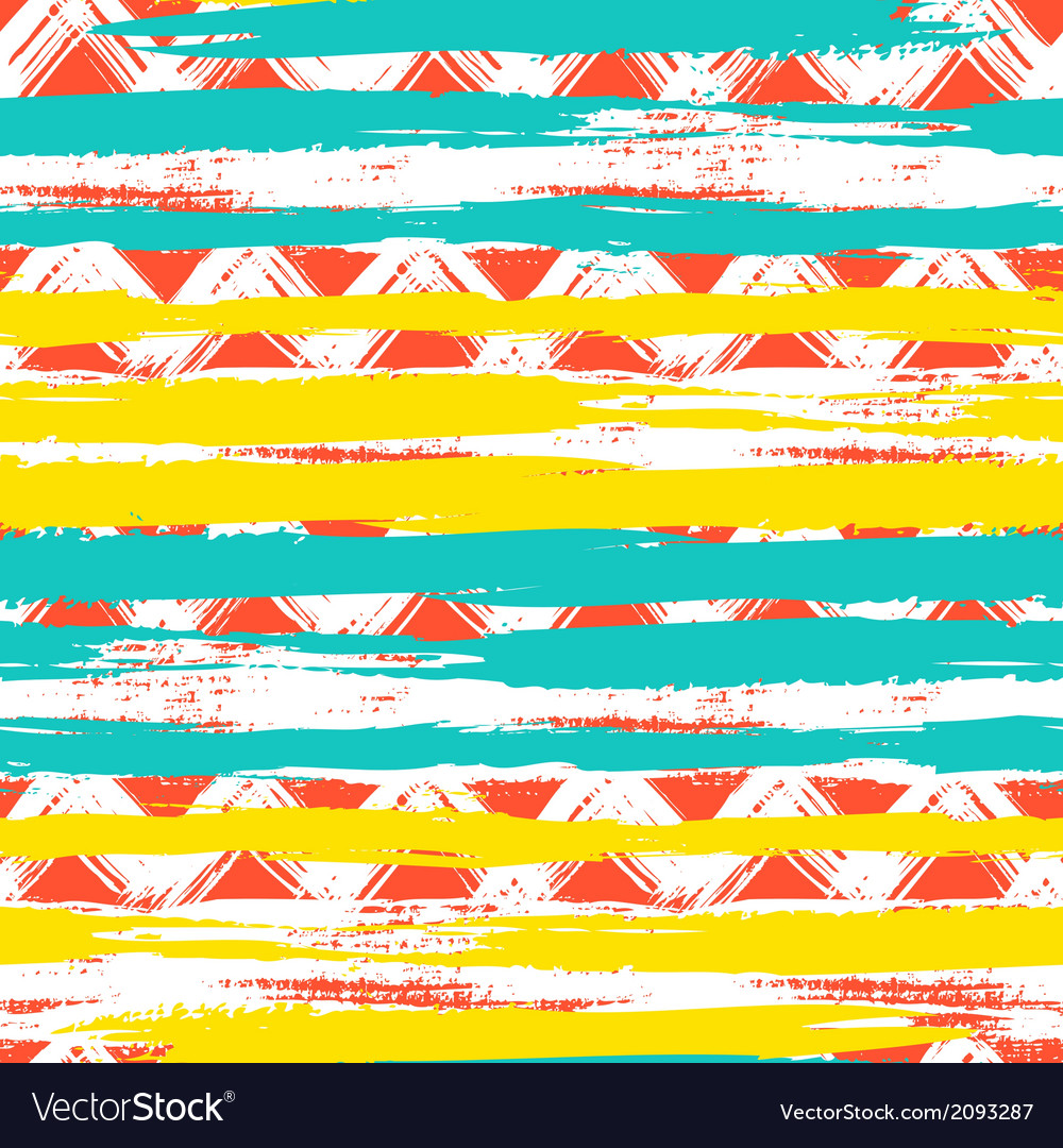 Seamless ethnic zigzag pattern with bold vector | Price: 1 Credit (USD $1)