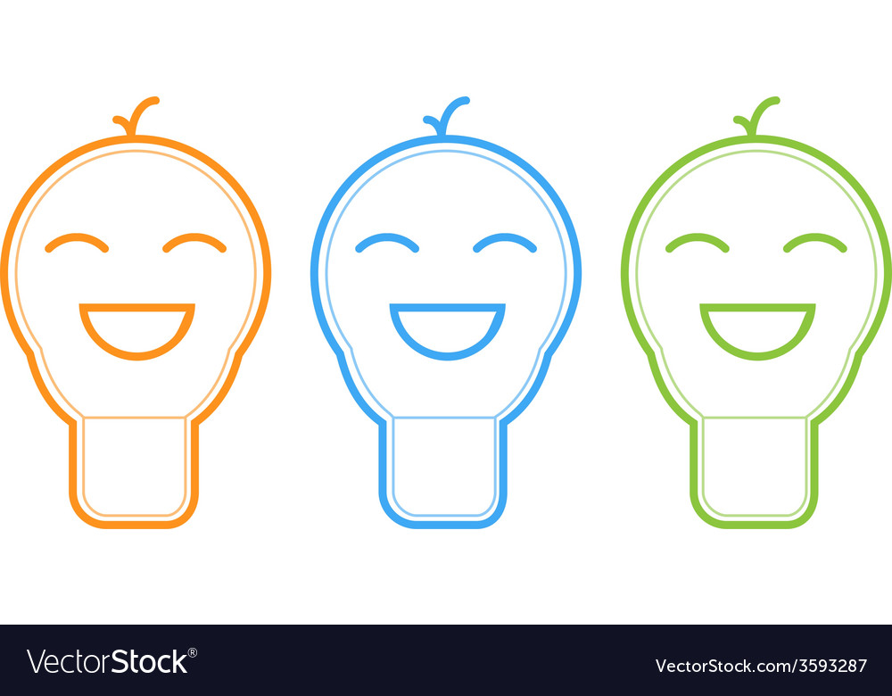 Smile light bulb icon vector | Price: 1 Credit (USD $1)