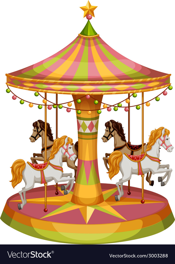 A merry-go-round horse ride vector | Price: 1 Credit (USD $1)