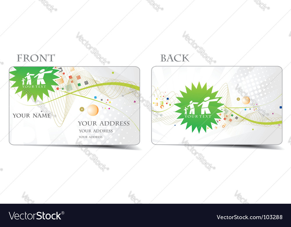 Business card set vector   Price: 1 Credit (USD $1)