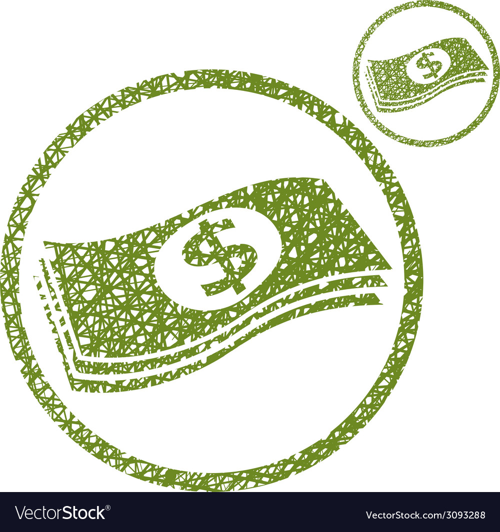 Dollars cash money stack simple single color icon vector | Price: 1 Credit (USD $1)