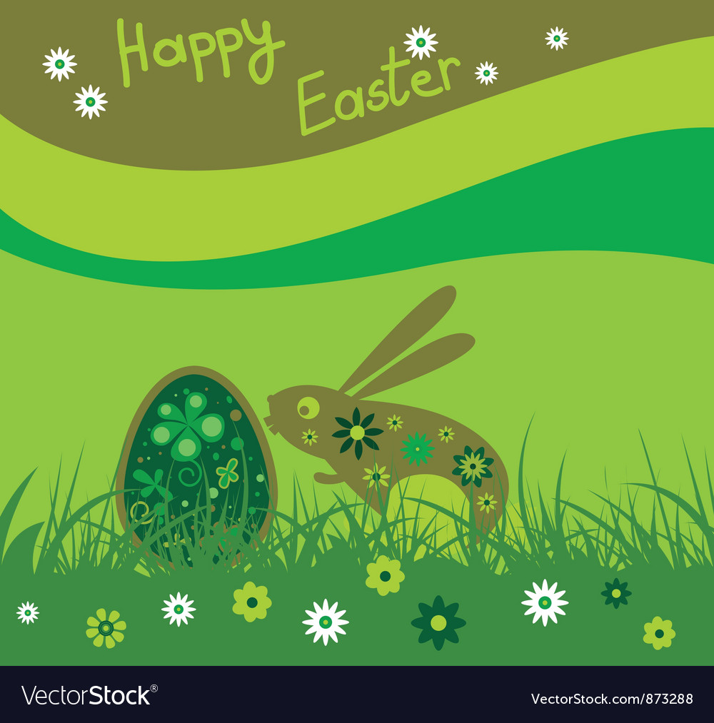 Easter background with rabbit vector   Price: 1 Credit (USD $1)