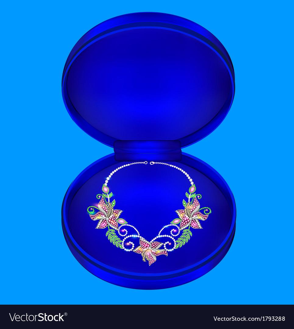 Female necklaces with precious stones vector | Price: 1 Credit (USD $1)
