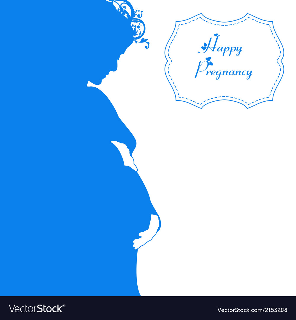 Happy pregnancy background vector   Price: 1 Credit (USD $1)