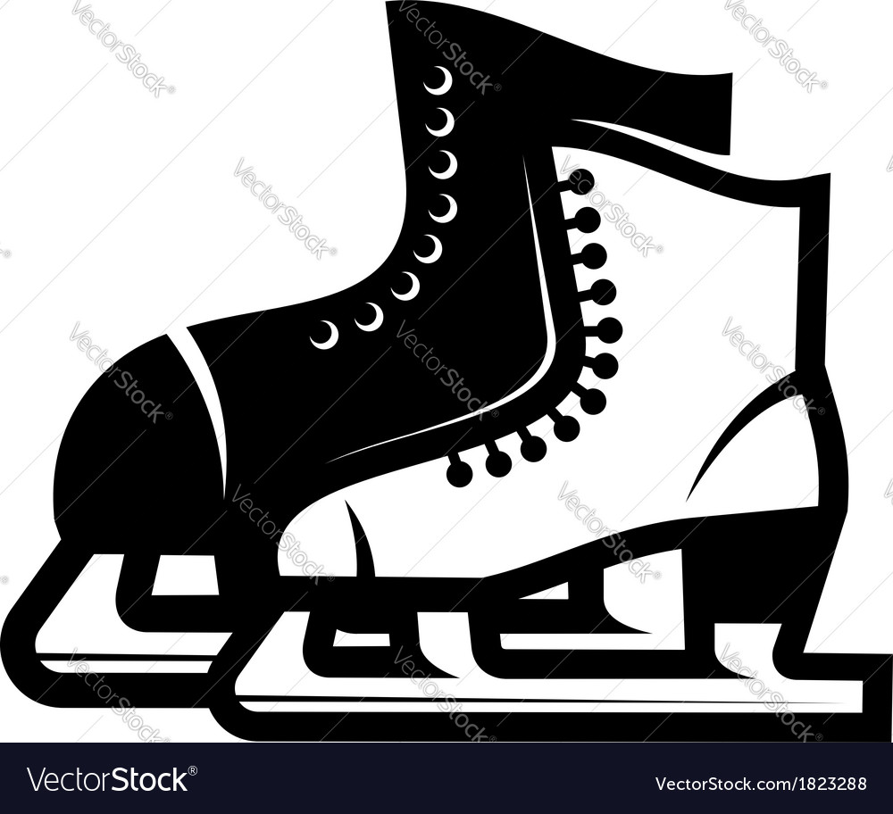 Pair of ice skates vector | Price: 1 Credit (USD $1)