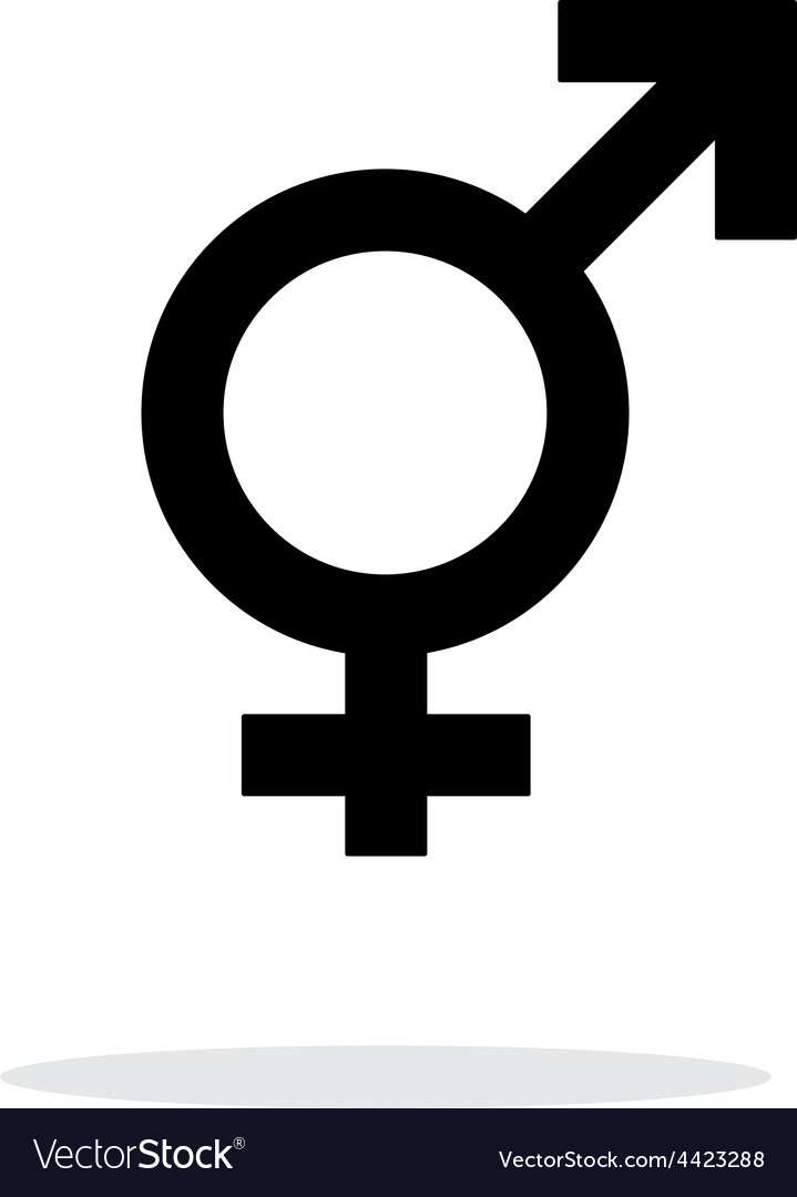 Transgender icon on white background vector | Price: 1 Credit (USD $1)
