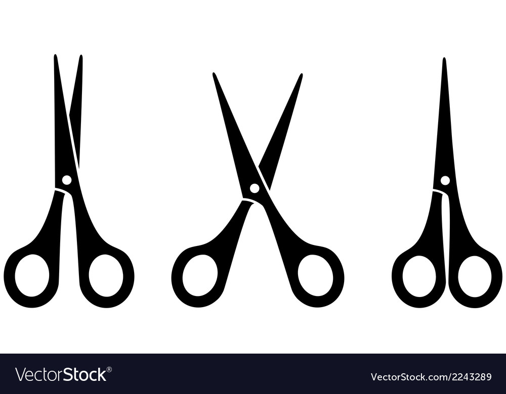 Black scissors vector | Price: 1 Credit (USD $1)