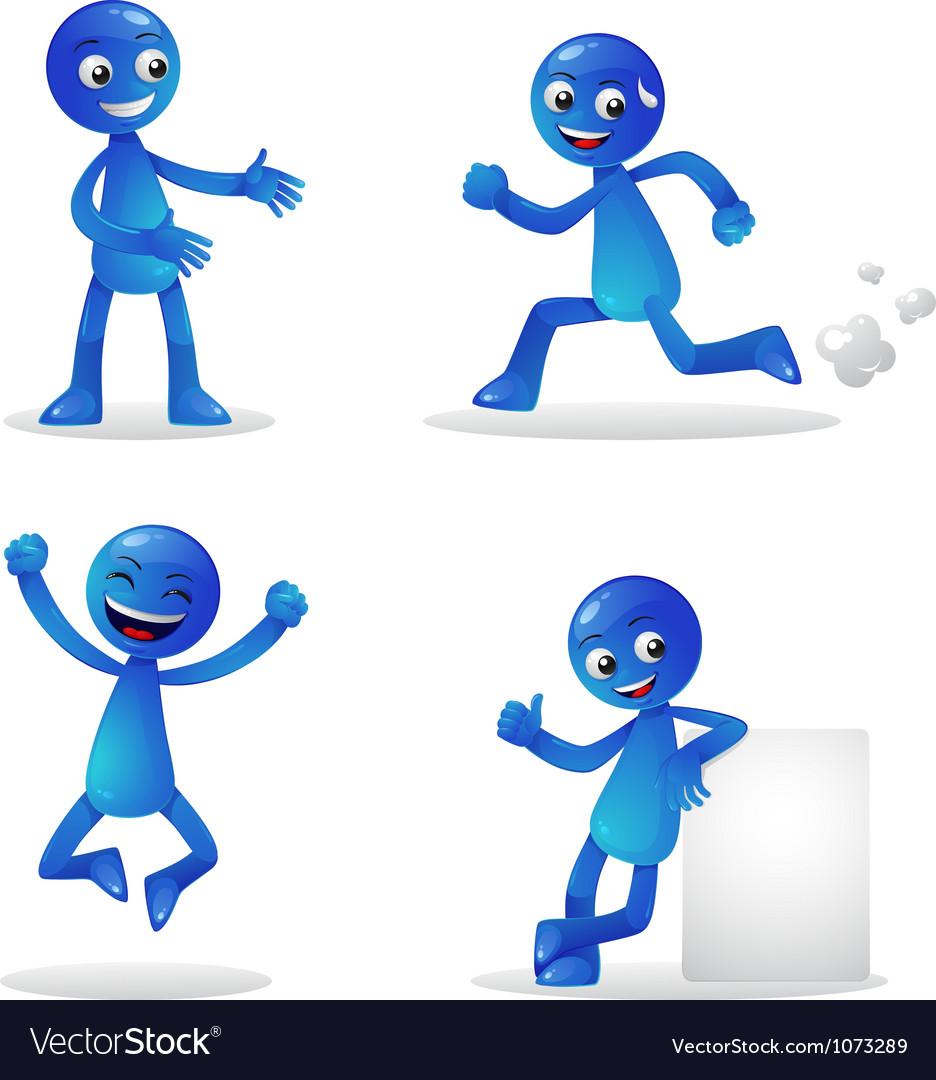 Blue person activity 1 vector | Price: 1 Credit (USD $1)
